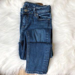 Zara Z1975 Low Rise Skinny Fit Denim Jeans